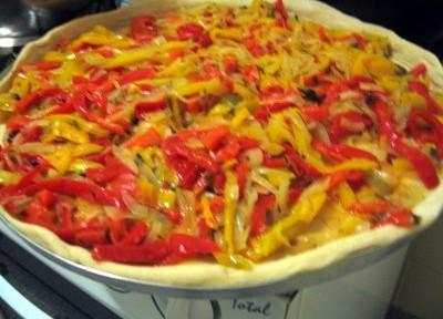Torta de pimentões e ervas