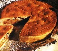 Tourte aux noix de l'Engadine (canton des Grisons) ou torta suíça de nozes