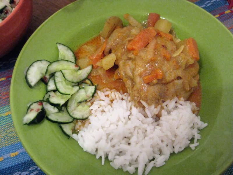 แกงกะหรี่ (Curry amarelo tailandês)