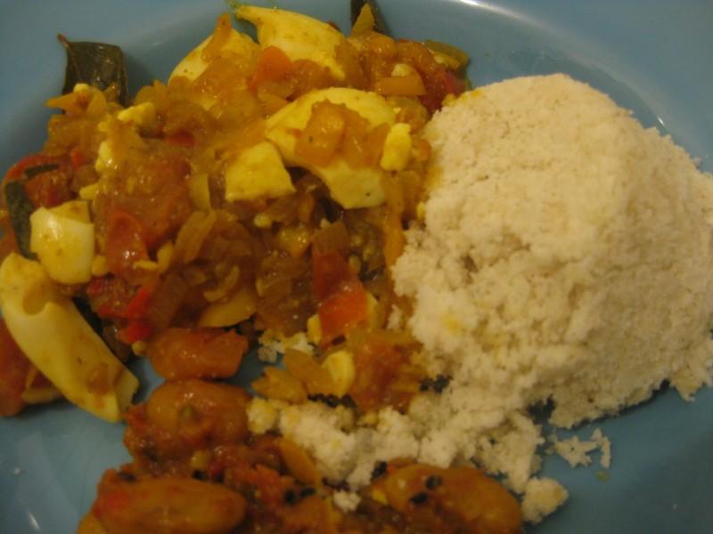 Curry de ovos